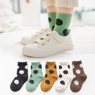 (5雙一組) 大點點短襪 橘魔法 現貨 點點襪子 男童 女童 襪子 短襪 兒童襪子 兒童