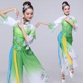 秧歌服演出服女成人2019新款古典舞飄逸茉莉花舞蹈服裝扇子舞套裝