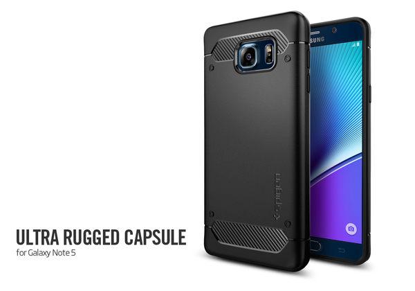 【米創3C】Spigen 韓國 SGP 三星 Galaxy Note 5 Rugged Armor 強化吸震軟式保護殼 卡夢紋手機殼 Note5