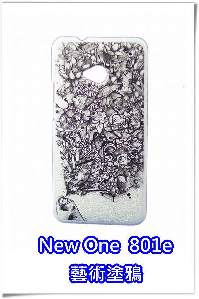 [ 機殼喵喵 ] HTC New One (M7) 801e 新一機 手機殼 45 藝術圖鴉