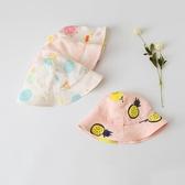 嬰兒帽子夏季薄款寶寶遮陽帽洋氣兒童太陽帽女0-3個月6防曬漁夫帽 歐韓流行館