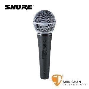 麥克風 ►動圈式麥克風 SHURE SM48S-LC 演講專用  有開關【SM-48S/Cardioid Dynamic Vocal Microphone】