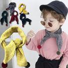 【童】保暖棉質圍巾 韓版小領巾口水巾 9色【E297500】