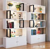 簡易書櫃書架組合飄窗置物架兒童創意小格子櫃客廳隔斷架簡約現代qm    JSY時尚屋