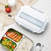 便當盒飯盒便攜簡約上班族學生分格日式健身網紅304不銹鋼餐盤餐盒cp1501【宅男時代城】