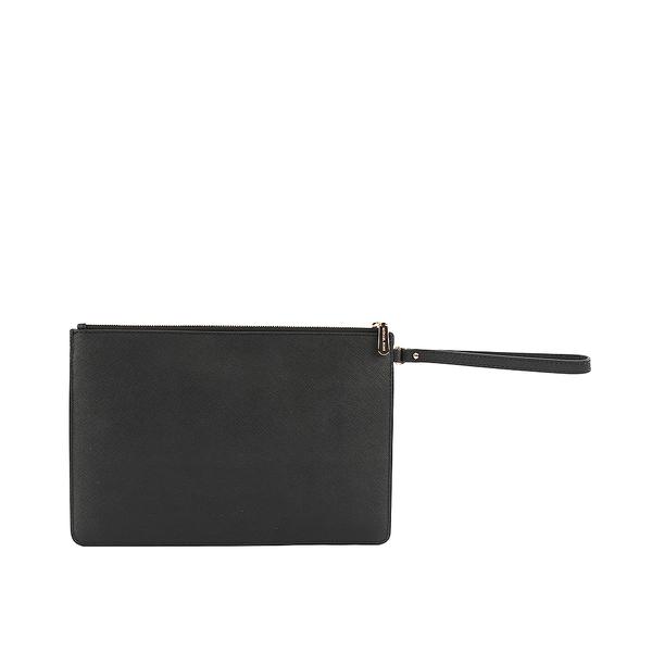 【MICHAEL KORS】金釦三層拉鏈大手拿包(黑色) 32F6GTVD9L/BLACK