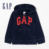 Gap 嬰兒 Logo拉鍊連帽休閒外套 511477-海軍藍色