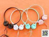 耳機/耳麥  vivo小米女生6k歌小耳機原裝帶麥oppo卡通可愛頭戴式創意 聖誕慶免運