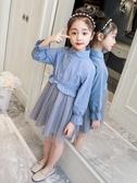 女童連身裙2019新款春裝洋氣兒童紗裙子韓版時尚童裝小女孩公主裙