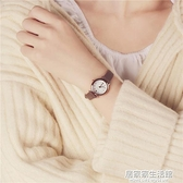 氣質時尚潮流女士經典圓形中學生百搭女生簡約錬韓版手錶  聖誕節免運