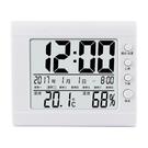 多功能電子溫濕度計 日曆時鐘鬧鐘溫溼度計...