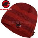Mammut長毛象 1090-03070-3228深紅 超輕快乾保暖編織帽 Passion Beanie毛線帽/登山滑雪遮耳帽/雪地毛帽