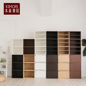 【木森雅居】KIMORI S-Cabinet可堆疊收納櫃深胡桃木色款