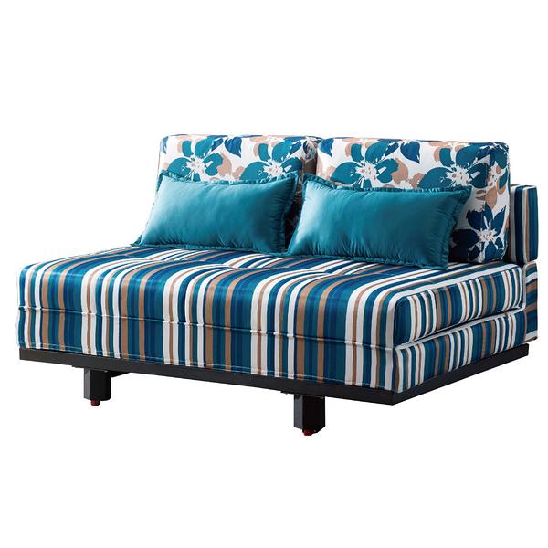 【采桔家居】歐若比 時尚絲絨布多功能沙發/沙發床(拉合式椅身調整設計)