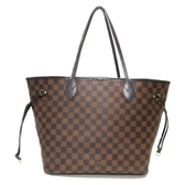 LOUIS VUITTON LV 路易威登 棋盤格肩背包 托特包 Neverfull MM N41358 【BRAND OFF】