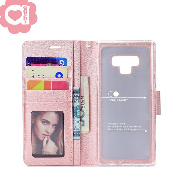 Samsung Galaxy A20/A30 月詩蠶絲紋時尚皮套 防刮耐磨 掀磁扣手機殼/保護套 金粉玫多色可選
