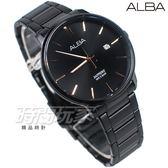 ALBA雅柏錶 知性簡約 城市對錶 藍寶石水晶鏡面 日期顯示窗 男錶 IP黑電鍍 AS9H35X1-VJ42-X260SD