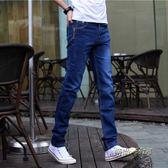 春裝男士牛仔褲彈力小腳褲潮男裝修身型長褲學生青少年休閒褲子男「時尚彩虹屋」