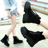 馬丁靴 chic馬丁靴女秋季 正韓英倫風學生秋冬短靴厚底百搭機車靴