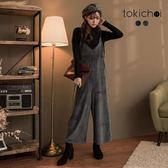 東京著衣-天鵝絨質感細肩帶連身寬褲(172264)