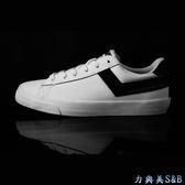 PONY 女休閒運動鞋 厚鞋墊設計彈性佳 舒適好穿 簡約設計 百搭 白色鞋面+黑色LOGO  【8003】