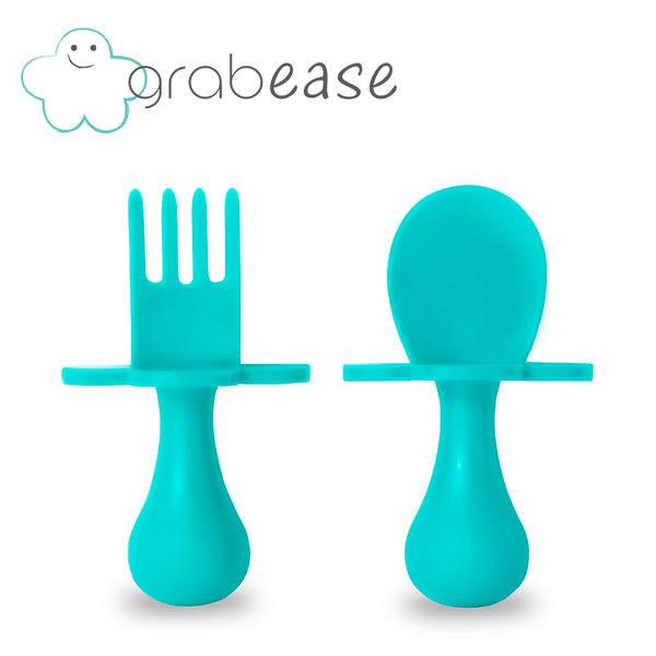 美國 grabease 嬰幼兒奶嘴匙叉組-水藍