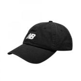 NEW BALANCE 黑 白刺繡LOGO 老帽 可調式 男女 (布魯克林) LAH91014BK