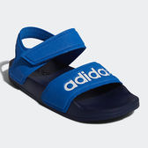 ADIDAS ADILETTE SANDAL 童鞋 中童 涼鞋 休閒 魔鬼氈 輕量 透氣 藍【運動世界】G26878