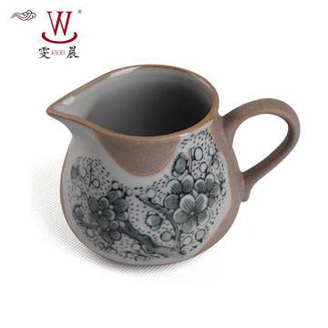茶具手繪青花公杯