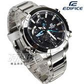 EDIFICE EQB-800D-1A 太陽能藍牙賽車概念不銹鋼男錶 防水手錶 黑面藍針 EQB-800D-1ADR CASIO卡西歐