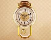 掛鐘 歐式復古搖擺掛鐘客廳簡約時尚掛錶臥室靜音石英鐘現代鐘錶  星河