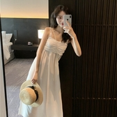洋裝 夏季港味復古百搭抹胸吊帶長裙收腰顯瘦性感氣質連衣裙女 芊墨左岸