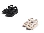 SKECHERS 女 涼鞋 MAX CUSHIONING SANDAL 厚底 黏帶 增高 黑 米白-140218BBK/140218NAT