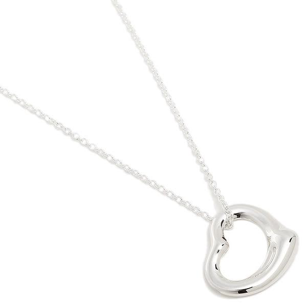 Tiffany & Co.   Open Heart鏤空小號心形純銀項鍊