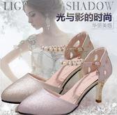 包頭涼鞋女夏季新款韓版高跟女粗跟一字帶羅馬女鞋 mc8333『東京衣社』