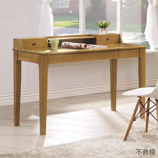 【森可家居】文森原木全實木4尺書桌 7HY487-1 木質感 日系無印風 MIT 台灣製造