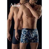 Aubade man-壞男人L-XL舒棉平口褲(扶桑花2件組)