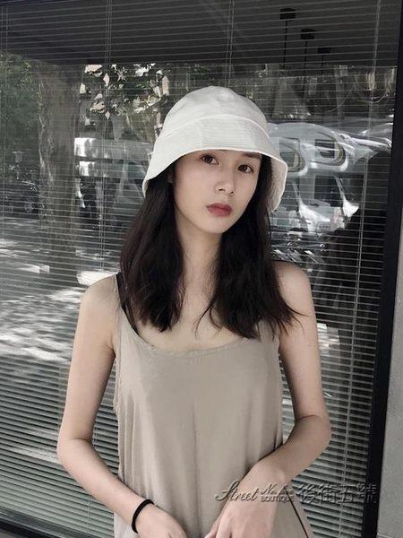 夏季薄款圓臉適合的帽子日系盆帽女夏網紅大帽檐遮陽防曬UV漁夫帽 後街五號