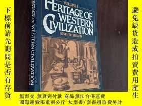 二手書博民逛書店Heritage罕見Of Western Civilization(VOLUME 1)Y12880 John
