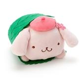 〔小禮堂〕布丁狗 迷你和菓子絨毛玩偶娃娃《粉綠.櫻花》擺飾.玩具 4901610-20082