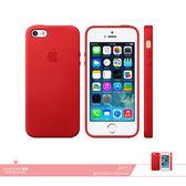 APPLE蘋果 原廠iPhone 5/ 5S/ SE 專用 皮革護套-紅 /手機保護殼 /防護背蓋 /防震硬殼保護套