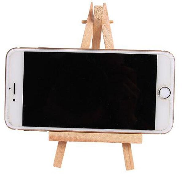 【BlueCat】微型桌面三角畫架木質手機支架 手機座(小)
