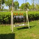【免運】戶外置物架 可折疊 三腳架 野營/燒烤工具 帶掛鉤 實木架子 易收納 便攜 掛物架