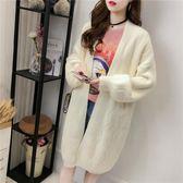 毛衣開衫女新款慵懶風女外套韓版中長款寬鬆針織毛線衣 黛尼時尚精品