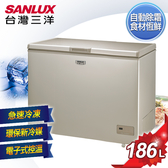 SANLUX台灣三洋 186L 上掀式無霜冷凍櫃 SCF-186GF 含原廠配送及拆箱定位