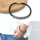 真皮個性感仿繞線條皮革手環【NA452】...