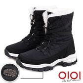 雪靴 雪國氛圍防潑水冰爪中筒雪靴(黑) *0101shoes【18-1912bk】【現+預】