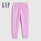 Gap女幼童 Logo絎縫式鬆緊運動褲 614523-淡紫色