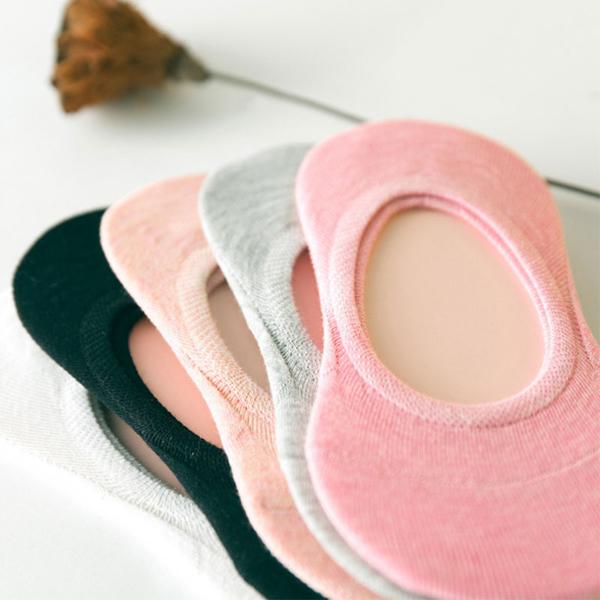 糖果色彩矽膠防滑淺口純色 隱形襪子 夏季秋季船襪 女襪【庫奇小舖】