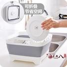 洗菜盆 多功能可折疊水槽瀝水籃加厚塑料廚房洗菜籃子水果收納筐洗菜盆 VK4362